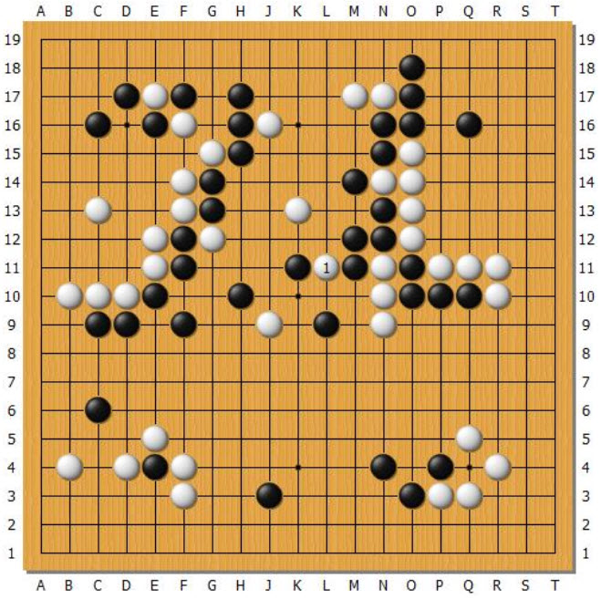 4th game, Alphago Go v.s. Lee Sedol